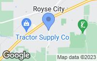 Map of Royse City, TX