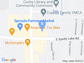 Map of Annies Pet Sitting Dog Boarding options in Coppell | Boarding