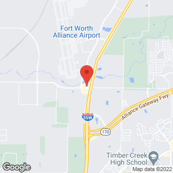 Map of Arby's at 2433 Westport Pkwy, Ft. Worth, TX 76177