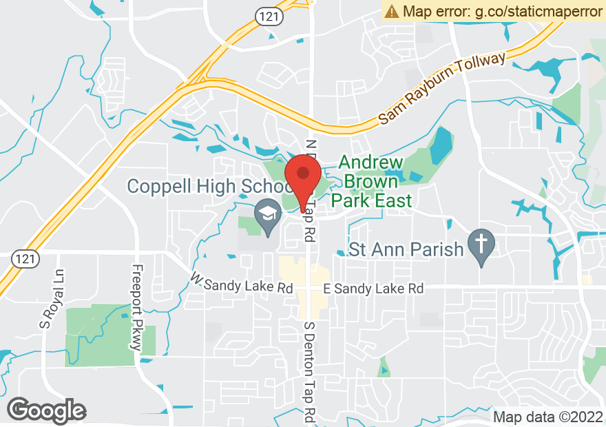 Google Map of 313 N DENTON TAP RD