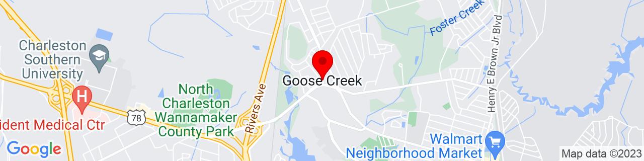 Google Map of 32.9810059, -80.03258670000001