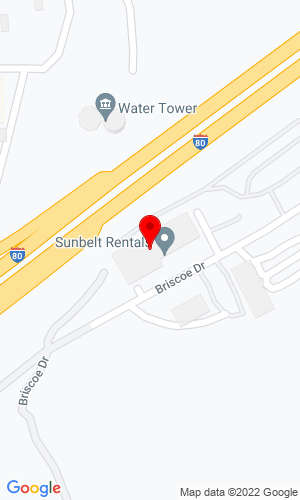 Google Map of Illinois Truck and Equipment Co. 320 Briscoe Drive, Morris, IL, 60450