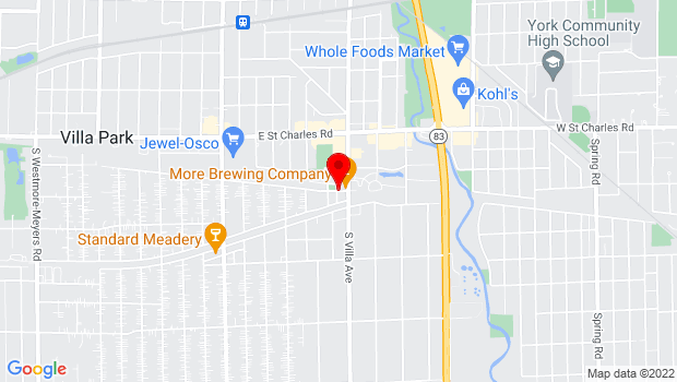 Google Map of 320 E Kenilworth Ave, Villa Park, IL 60181