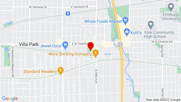 Google Map of 320 E Wildwood St, Villa Park, IL 60181