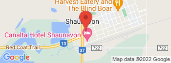 Google Map of 320+Highway+37+North%2CShaunavon%2CSaskatchewan+S0J+2E0
