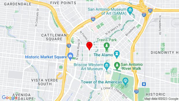 Google Map of 320 North Flores, San Antonio, TX 78205