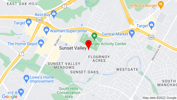 Google Map of 3205 Jones Road, Sunset Valley, TX 78745