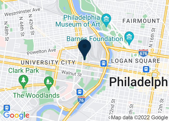 Map of 3205 Lancaster Ave, Philadelphia, PA 19104, United States