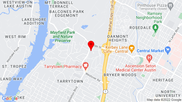 Google Map of 3208 Exposition Blvd., Austin, TX 78703