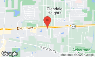 Map of 321 East North Avenue GLENDALE HEIGHTS, IL 60139