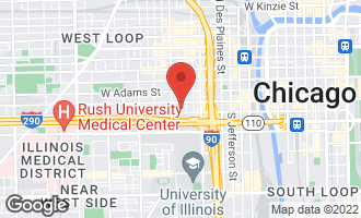 Map of 321 South Sangamon Street #303 CHICAGO, IL 60607