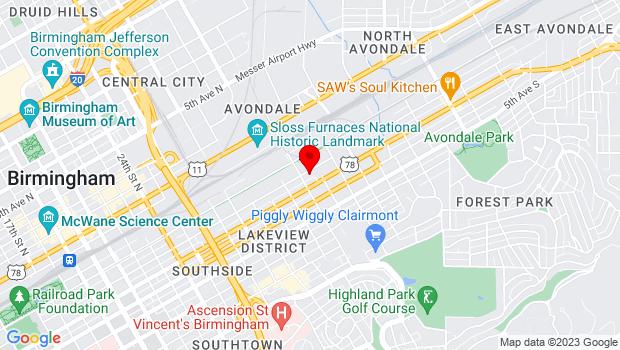 Google Map of 3211 2nd Ave S, Birmingham, AL 35222