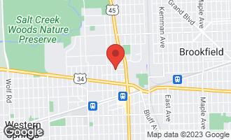 Map of 322 North Ashland Avenue LA GRANGE PARK, IL 60526