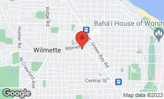 Map of 322 Oak Circle WILMETTE, IL 60091