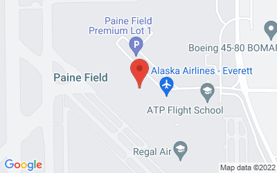 Map of Paine Field Badging Office