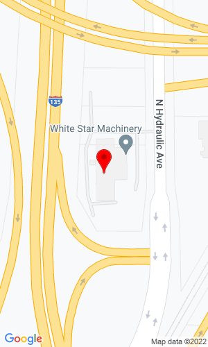 Google Map of White Star Machinery 3223 N Hydraulic Avenue, Wichita, KS, 67219