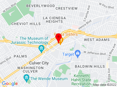 Google Map of 3225 Helms Ave. Los Angeles, CA 90034