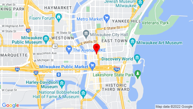 Google Map of 323 East Wisconsin Ave, Milwaukee, WI 53202