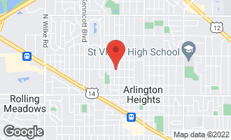 Map of 323 West Elm Street ARLINGTON HEIGHTS, IL 60004