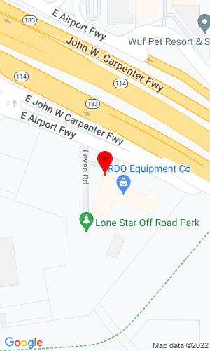 Google Map of RDO - South Central Construction Equipment 3230 East Airport Freeway, Irving, TX, 75062