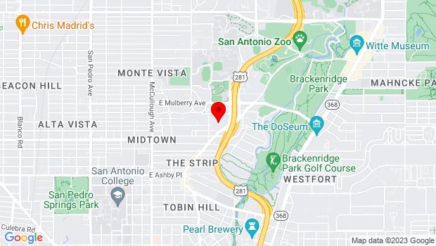 Google Map of 3233 N St Mary's St, San Antonio, TX 78212