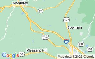 Map of Davy Crockett Campground