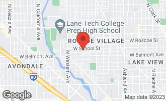 Map of 3247 North Leavitt Street CHICAGO, IL 60618