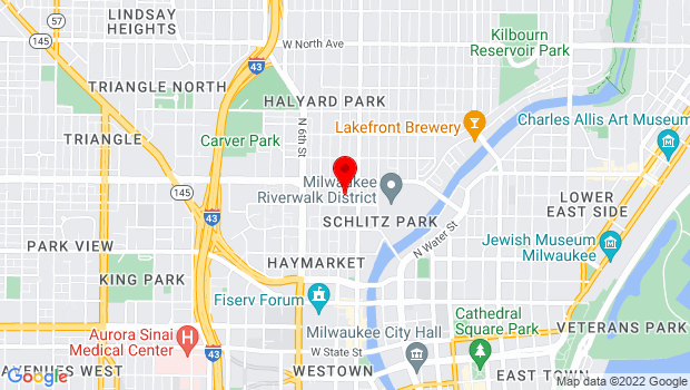 Google Map of 325 W. Walnut St., Milwaukee, WI 53212