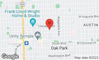 Map of 325 North East Avenue OAK PARK, IL 60302