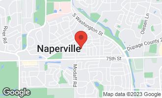 Map of 325 Rowan Court NAPERVILLE, IL 60540