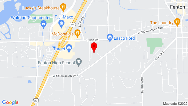 Google Map of 3255 Donaldson Dr, Fenton, MI 48430