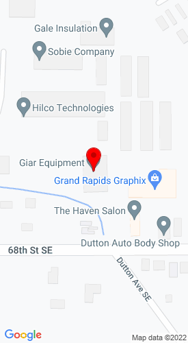 Google Map of Giar & Sons Equipment Inc. 3258 Industrial Drive, Dutton, MI, 49316