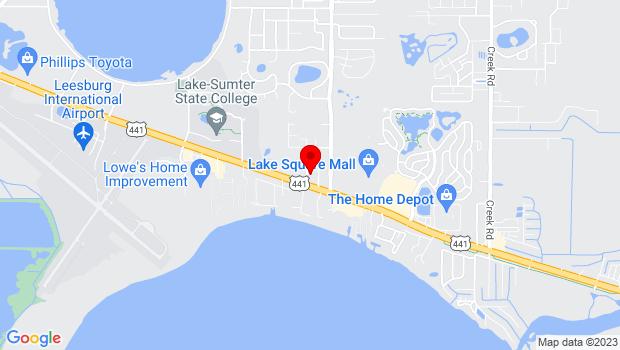 Google Map of 32624 Blossom Ln, Leesburg, FL