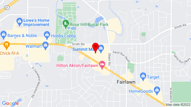 Google Map of 3265 W Market St, Fairlawn, OH