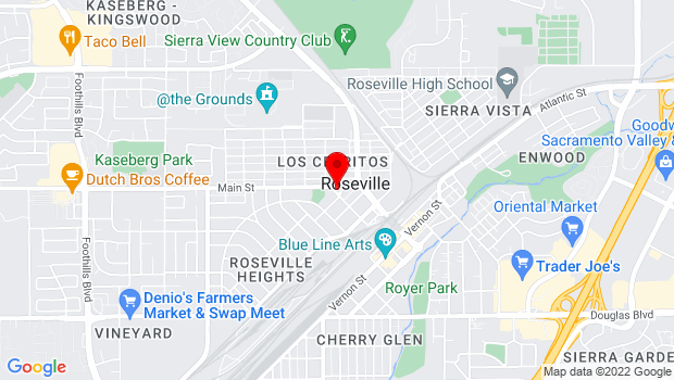 Google Map of 327 Main Street, Roseville, CA 95678