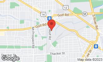 Map of 328 Oxford Road DES PLAINES, IL 60016