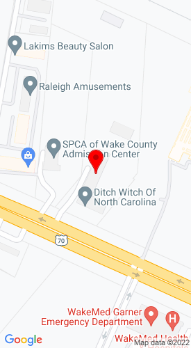 Google Map of Ditch Witch of North Carolina, Inc. 329 US Highway 70 E, Garner, NC, 27529