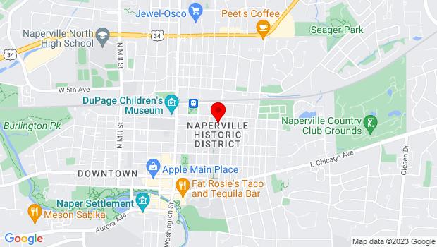 Google Map of 329 E. School Street, Naperville, IL 60540