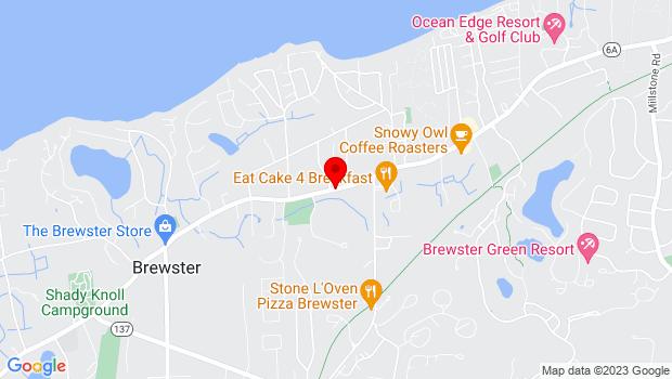 Google Map of 3299 Rte. 6A, Brewster, MA 02631