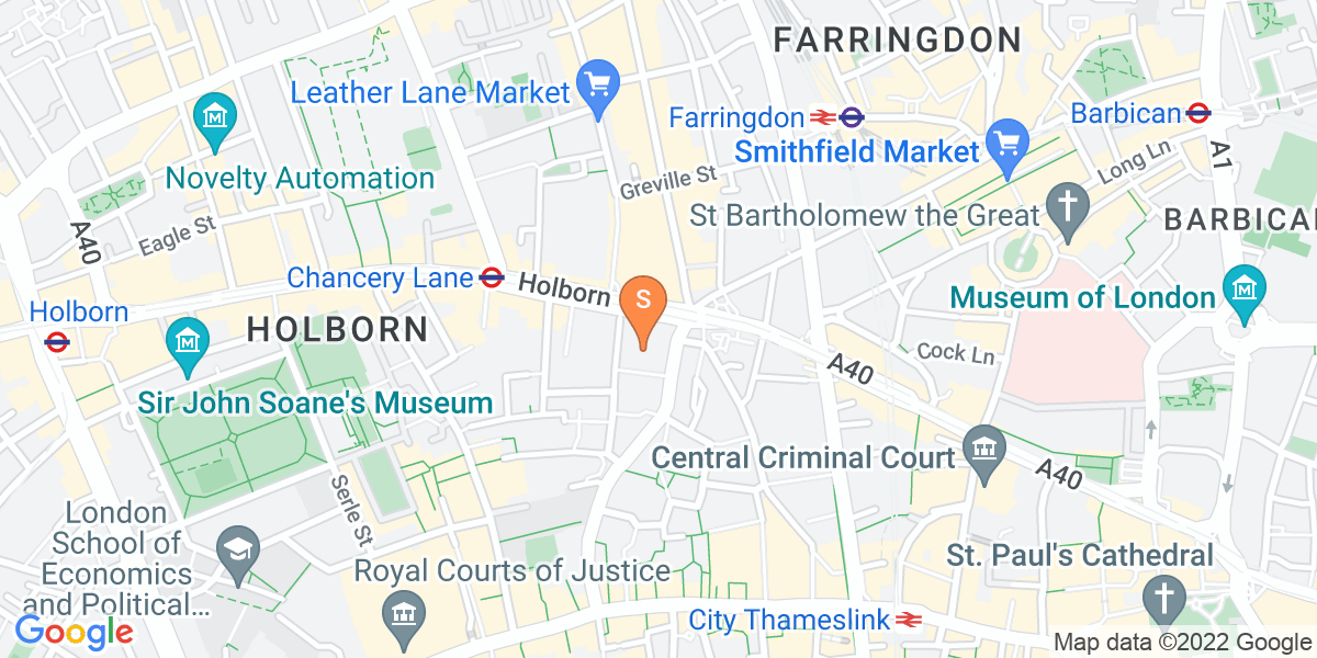 Google Map of 33 Holborn London EC1N 2HT