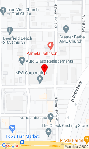 Google Map of MWI Pumps 33 NW 2nd Street, Deerfield Beach, FL, 33441