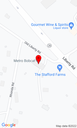 Google Map of Metro Bobcat, Inc. 33 West Old Liberty Road, Eldersburg, MD, 21784
