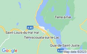 Map of Camping Témilac
