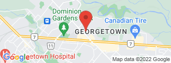 Google Map of 33+Mountainview+Road+North%2CGeorgetown%2COntario+L7G+4J7