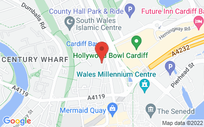 Map of Cardiff Bay Rooms