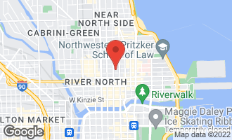 Map of 33 West Huron Street #703 CHICAGO, IL 60654