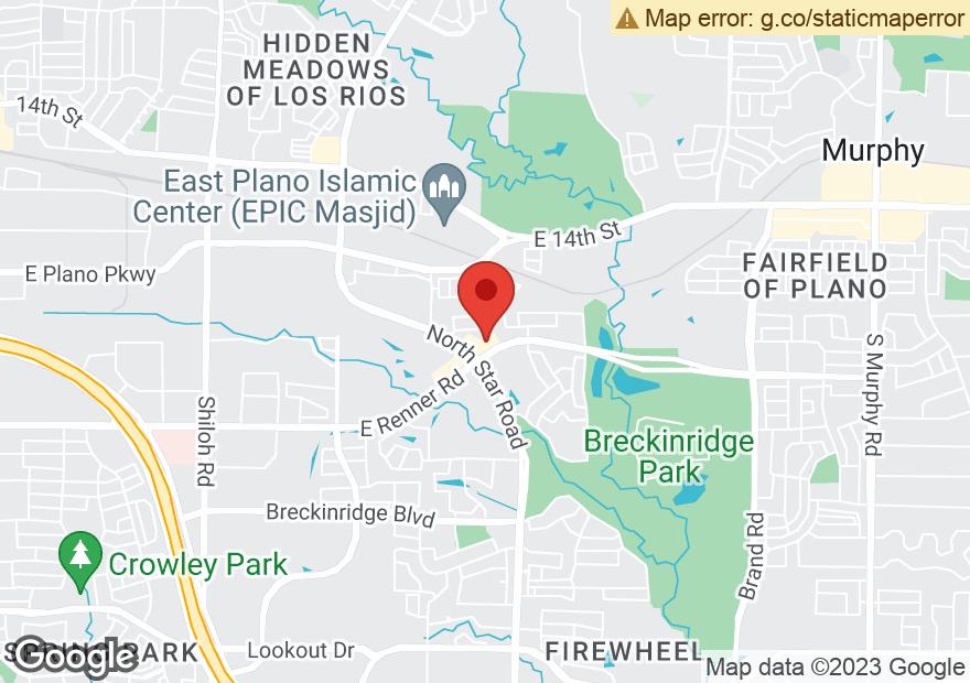 Google Map of 4201 E RENNER RD