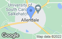 Map of Allendale, SC