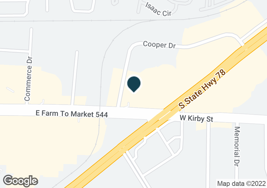 Google Map of720 W KIRBY ST