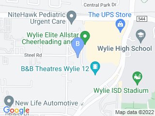 Map of A B Kennel Club Dog Boarding options in Wylie | Boarding